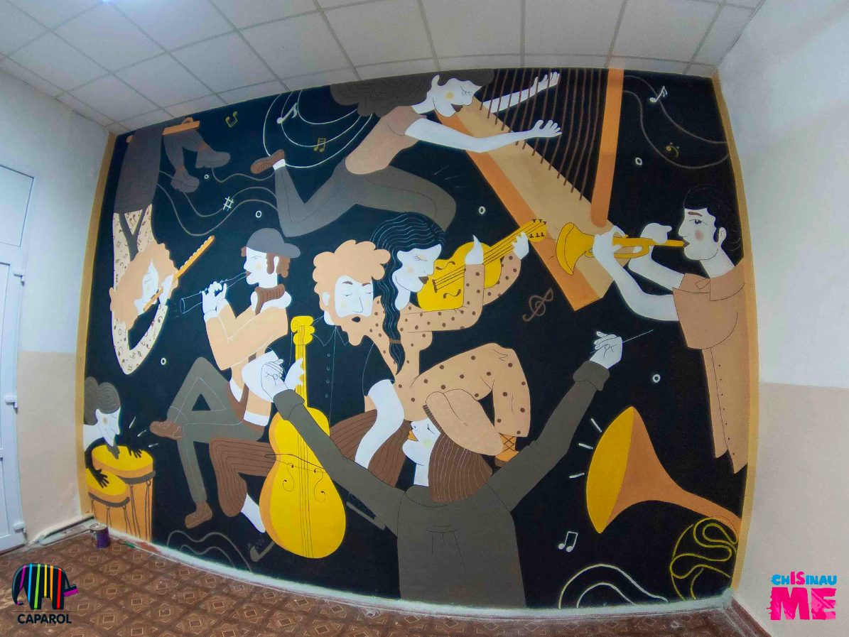 «Музыкальная стена» от проекта Chisinau is ME